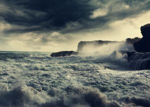 The Rain - Shelter in the Storm Background Image - Storm on ocean